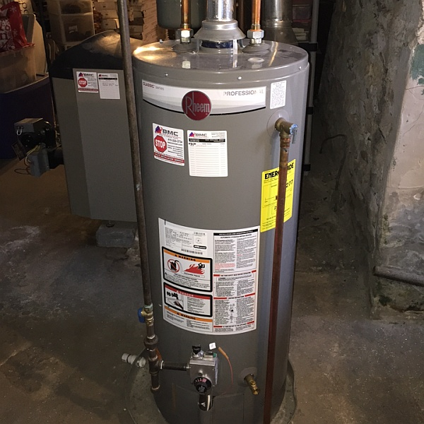 Install new water heater in home